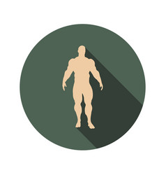Body building icon vector