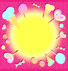 bright colorful background with sweets vector image vector image