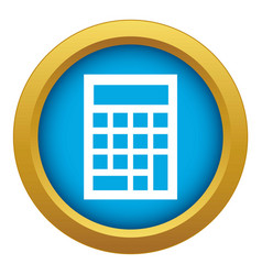 Budget calculator icon blue isolated vector