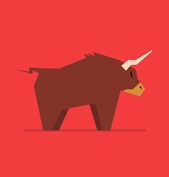 Bull in flat style vector