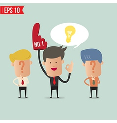 Business man with idea concept - - EPS10 vector