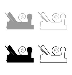 Carpenters plane with wood with shaving wood vector