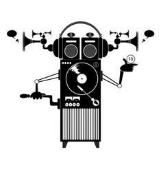Cartoon funny jukebox vector