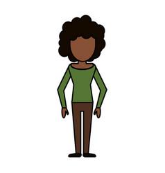 Cartoon woman female image vector