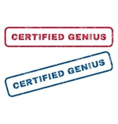 Certified genius rubber stamps vector