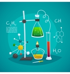 Chemical Laboratory Workspace Design Concept vector