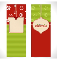Christmas banner background vector image
