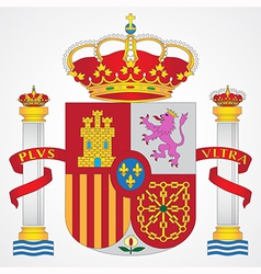 coat arms spain vector image