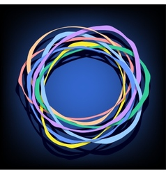 color rings vector image