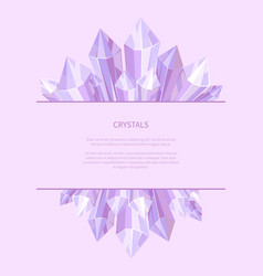 Crystals of purple color vector