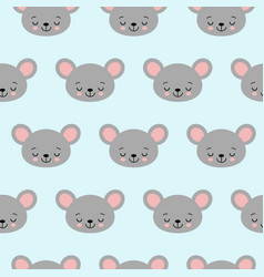 cute cartoon mouse seamless pattern vector image