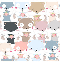 Cute funny squirrel pattern vector