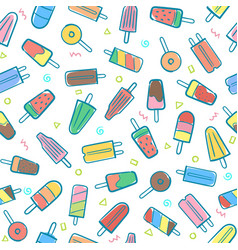 cute seamless summer pattern with variety fruit vector image