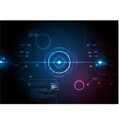 Digital futuristic game technology vector