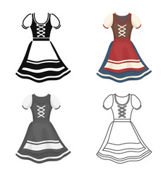 Dirndl icon in cartoon style isolated on white vector