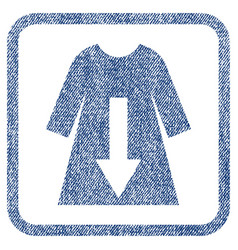 Download female dress fabric textured icon vector