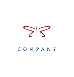 dragonflies logo vector image