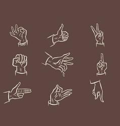 fingers a set hand gestures vector image