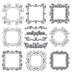 Floral filigree frames and ornamental decorations vector