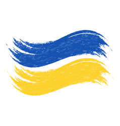 Grunge brush stroke with national flag of ukraine vector