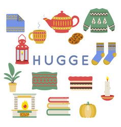 hygge danish norwegian cultural lifestile mood vector image