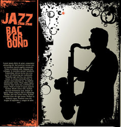 Jazz music background vector image