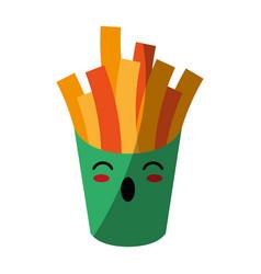 Kawaii fast food icon image vector