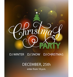 Lettering for Christmas Party invitation card vector image