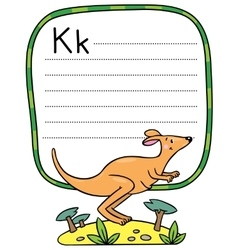 Little kangaroo for ABC Alphabet K vector