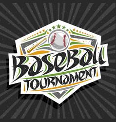 Logo for baseball tournament vector