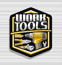 logo for work tools vector image
