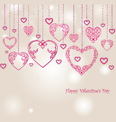 love heart background romantic holiday greeting vector image