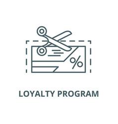 Loyalty program line icon linear concept vector