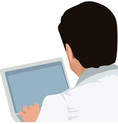 man and laptop vector image