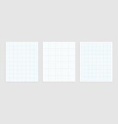 Mathematical graph paper set for data vector