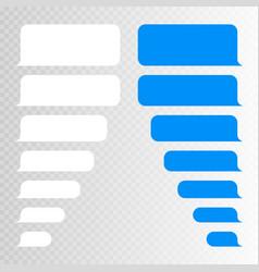 Message bubbles design template for messenger chat vector
