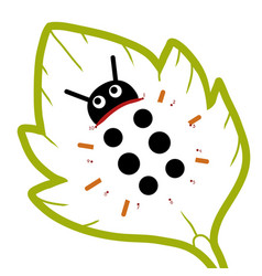 numbers game for children ladybug vector image