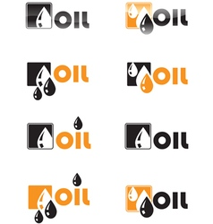 Oil drop logo vector image