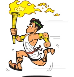 Olympic torch bearer vector