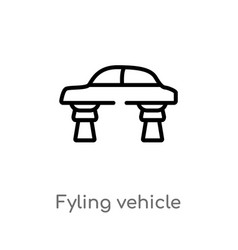 Outline fyling vehicle icon isolated black simple vector