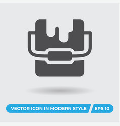 paint can icon simple sign for web site and vector image