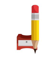 pencil sharpener symbol vector image