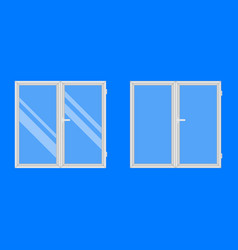 plastic windows isolated on blue background vector image