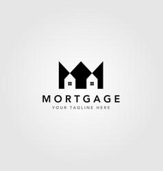 Real estate logo crown symbol house clever logo vector