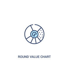 Round value chart concept 2 colored icon simple vector