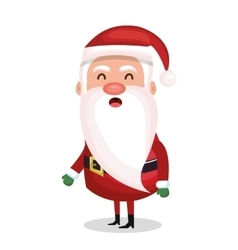 santa claus standing merry christmas design vector image