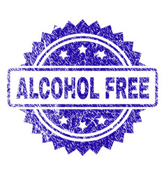 Scratched alcohol free stamp seal vector