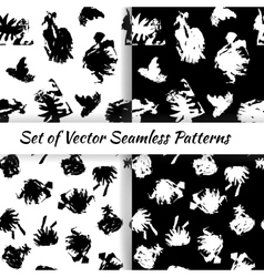 Set of decorative graphic seamless patterns with vector