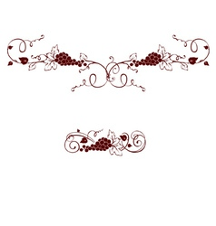 Set of design elements - grape vector image
