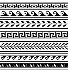 set of geometric borders vector image